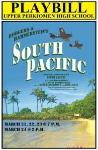 South Pacific Playbill Front Cover
