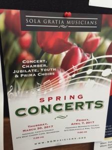sola gratia concert